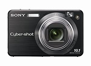 Sony Cybershot DSCW170/B 10.1MP Digital Camera with 5x Optical Zoom with Super Steady Shot (Black)