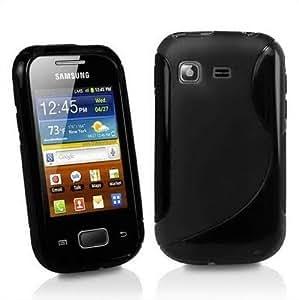S-Hardline Combo Pack Back Cover For Samsung S5300 Galaxy Pocket + USB ultra bright led light (Black)