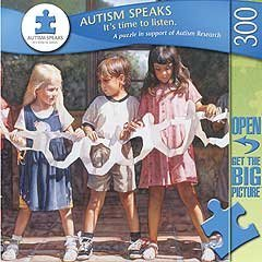We Are Bound Together 300 pc Jigsaw Puzzle for Autism Awareness and Research - 1