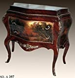 baroque chest of drawers with painting antique style MoPa0397, width 120cm