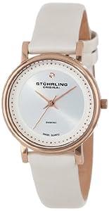 Stuhrling Original Women's 734LS2.SET.01 Ascot Castorra Elite Swiss Quartz Diamond White Watch with Additional Strap