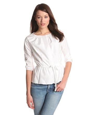 Pendleton Women's Wrinkle-Resistant Anatasia 3/4 Sleeve Shirt, White Dot Shirting, 8