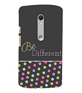 Be Different in Crowd 3D Hard Polycarbonate Designer Back Case Cover for Motorola Moto G3 :: Motorola Moto G (3rd Gen)