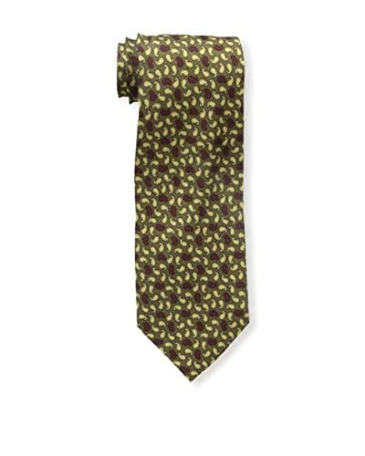 Rossovivo Men's Sir Paisley Tie, Red/Yellow