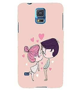 PRINTSHOPPII CUTE LOVE Back Case Cover for Samsung Galaxy S5 G900i::Samsung Galaxy S5 i9600::Samsung Galaxy S5 G900F