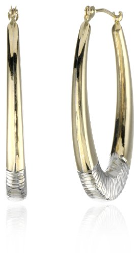 Orofusion Girl's 10k and Sterling Silver Wire Hoop Earrings