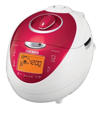 Cuckoo 6-Cups Electric Pressure Rice Cooker Warmer Red | Crp-N0681F