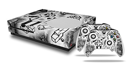 Robot Love - Decal Style Skin Set fits XBOX One S Console and 2 Controllers (XBOX SYSTEM SOLD SEPARATELY) (Robot Controler compare prices)