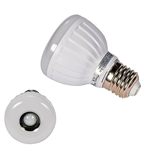 Signstek E27/E26/B22 5W PIR Infrared Motion Detection Sensor & Light Sensor LED Light Bulb Warm White