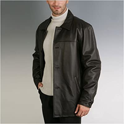 BGSD Men's New Zealand Lambskin Leather Car Coat - Regular, Tall, Big, Big &amp; Tall