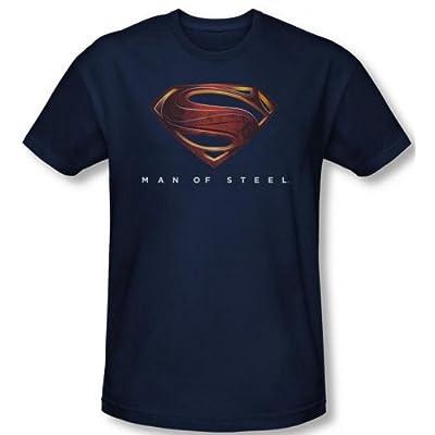 Superman Man of Steel Navy Mos New Logo T-Shirt