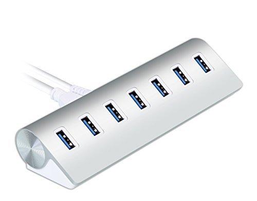 hub-cateck-usb-30-premium-de-aluminio-de-7-puertos-con-conexion-a-corriente-de-alta-capacidad-de-5v-