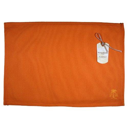 Tommy Bahama Palm Tree Logo, Pack Of 4 Placemats, Orange