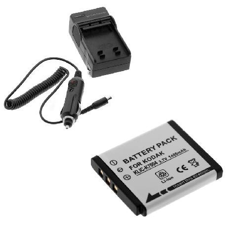 GTMax KLIC-7004 Lithium-Ion Battery, Battery Charger with Car Adapter