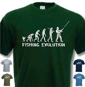 Fishing Evolution - Funny Birthday Gift Present T-shirt