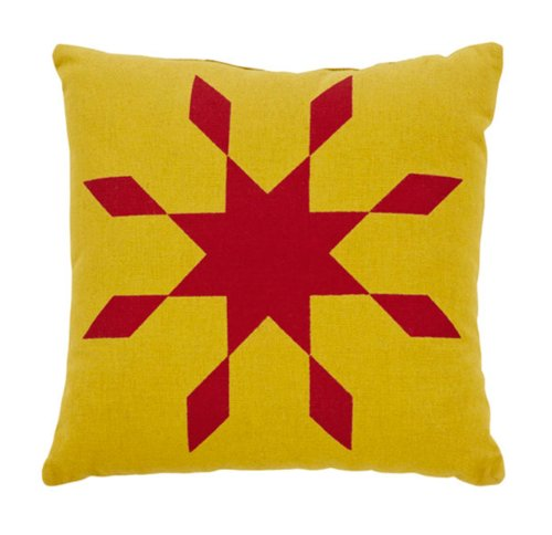 Sierra Small Star Stenciled Pillow front-998910