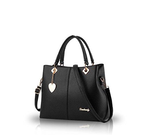 NicoleDoris-2016-weiblichen-Beutel-neue-einfache-Art-und-Weise-groe-Tasche-Handtasche-Dameneinzel-Tasche-Messenger-Bag-FrauengeldbeutelBlack