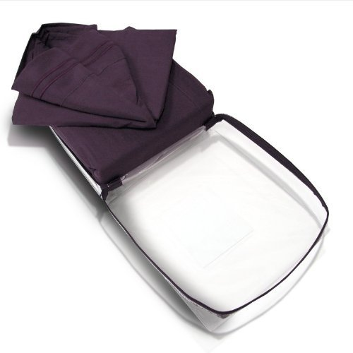 1500 Thread Count 4Pc Bed Sheet Set Egyptian Deep Pocket, Ultra Soft & Luxurious, On Sale Today; King,Eggplant front-842517