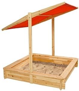 eichhorn 100004524 sandkasten holz mit sonnendach und abdeckung spielzeug. Black Bedroom Furniture Sets. Home Design Ideas