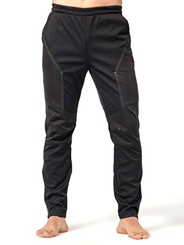 Inbike Winter Men's Fleeced Windbreaker Athletic Pants Active Sweatpants Sport Jogger Themal Wok Out Trousers for Gym, Cycling, Running, Fitness, Jogging, Exercise (M, TJP)