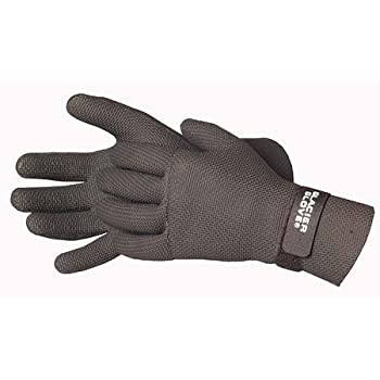 Glacier Glove paddling glove is blind stitched and glued to be waterproof.  Strap at the wrist helps keep water out and keep the user warm.