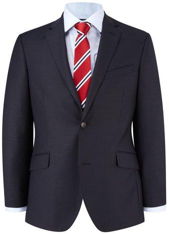 Austin Reed Contemporary Fit Navy Semi Plain Jacket REGULAR MENS 38