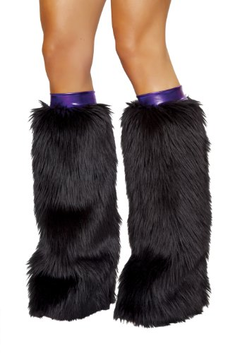 Metallic/Fur Leg Warmer