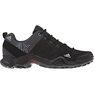 Adidas Men's AX 2 Hiking Shoes - Dark Shale/ Black/ Light Scarlet 9.5