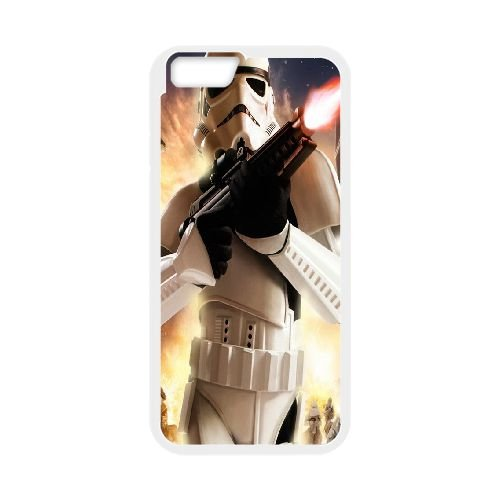 iPhone 6 Plus 5.5 Inch Cell Phone Case White Star Wars KMK Back 16D Case