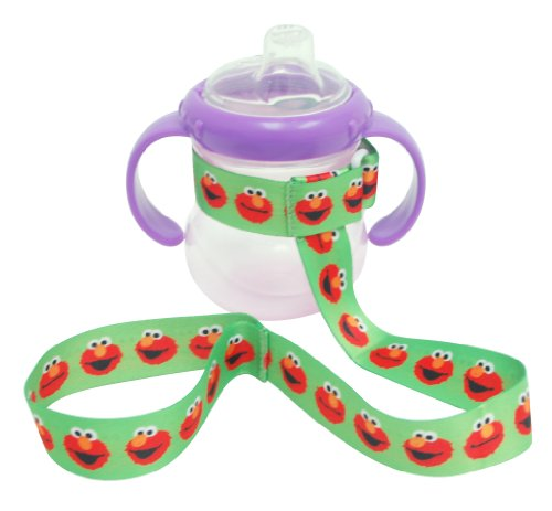 Petite Creations No Throw Sesame Street Bottle Holder Elmo, Green - 1