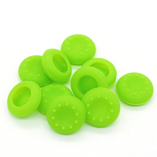 BW® 5 Pair/10 Pcs Replacement Silicone Analog Controller Joystick Thumb Stick Grips Cap Cover For PS3 / PS4 / Xbox 360 / Xbox One / Wii Game Controllers (green)