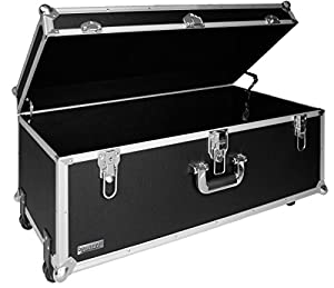 vaultz 14 x 30 x 16 inches locking extra large storage chest with wheels black. Black Bedroom Furniture Sets. Home Design Ideas