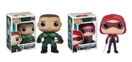 Funko POP Television Arrow: Oliver Queen and Speedy with Sword Toy Action Figures - 2 Piece BUNDLE