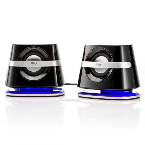 Sanwa direct 2.1 compact speaker PC speaker computer speakers USB power supply type 400-SP018