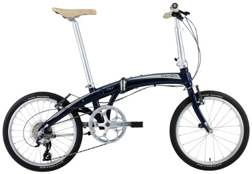 "DAHON(ダホン) Mu P8 20"" アルミフレーム 折りたたみ自転車 8speed Midnight Blue 13MUP800BL"