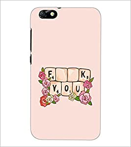 PrintDhaba Quote D-2274 Back Case Cover for HUAWEI HONOR 4X (Multi-Coloured)