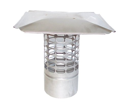 The Forever Cap CCSS12R 12-Inch Stainless Steel Slip in Round Chimney Cap