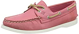 Sperry Top-Sider Women\'s A/O 2-Eye Wax Leather Boat Shoe,Pink Wax Leather,US 6.5
