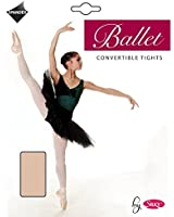 SILKY BALLET DANCE TIGHTS CONVERTIBLE FOOT PINK LADIES SIZES 10% SPANDEX