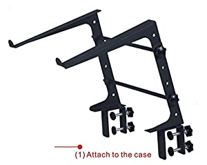 DJ Laptop Stand - Adjustable Shelf, Easy To Carry, Three Different Assembly Options, Lightweight & Durable, For Performance Venues & Mobile DJs, GMI Pro