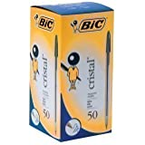 Bic Cristal Ball Point Pens Blue Medium - Pack of 50