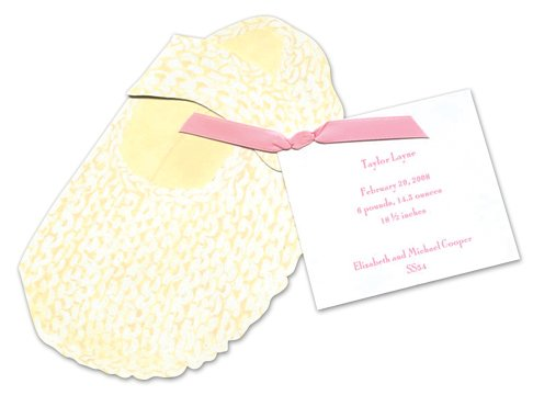 Baby Bootie Die-Cut Card, Pack Of 10 front-850002