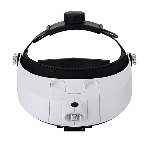 Victsing Led Light Headband Head Glasses Magnifier Reading Antiques Jewelry Stamp Repair Tools