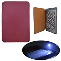 Coodio Amazon Kindle 4 Lighted Genuine Leather Cover with Built-in