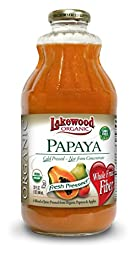 Lakewood Organic Papaya Juice, 32-Ounce Bottles (Pack of 6)