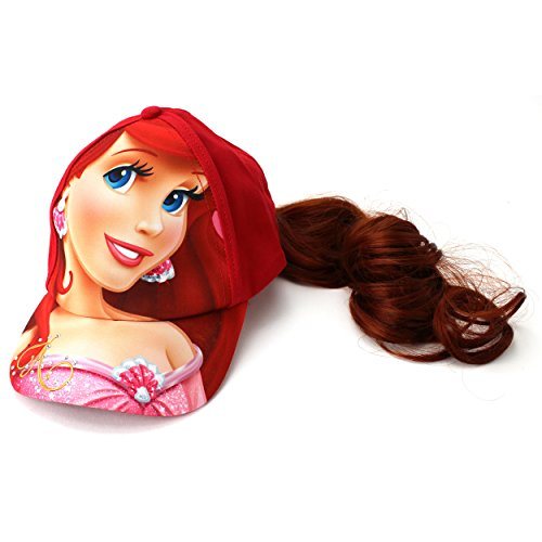 Little Mermaid Ariel Baseball Cap Hat with Ponytail