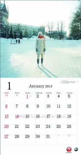 JAL「A WORLD OF BEAUTY」(普通判) カレンダー 2013年