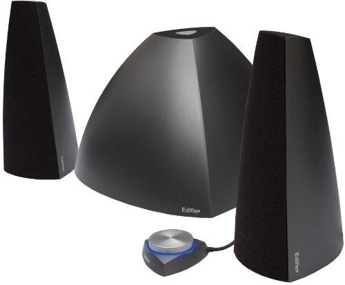 Edifier Prisma+D62 Bluetooth, 2.1-Soundsystem mit 2x 9W Satelliten und 1x 30W Subwoofer, inklusive Fernbedienung, schwarz