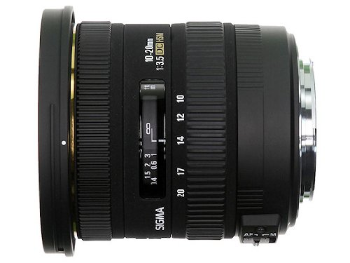 Sigma 10-20mm f3.5 EX DC HSM Lens for Canon Digital SLR Cameras with APS-C Sensors