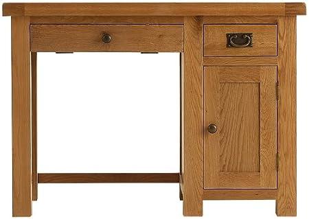 Pembroke oak home office/study furniture single computer desk